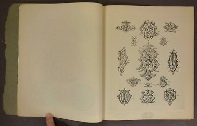 1895 Gorham Silver Text Book of Ornamental Engraving & Lettering