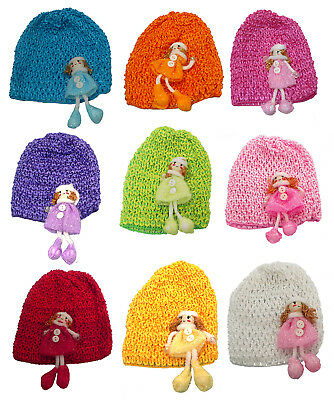 8 /& Dz Pk U16250-6411 Bella Baby Stretchy Knitted Bonnets Hats in Set of 4