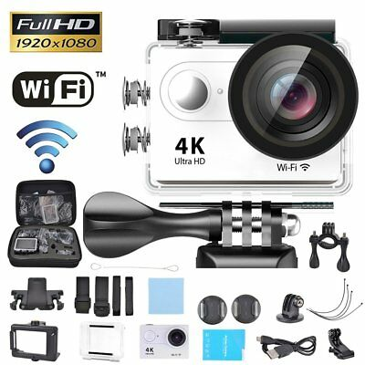 4K/25fps WIFI Sports Action Camera HD 1080PDVR Cam 30M Waterproof w/Carry Case