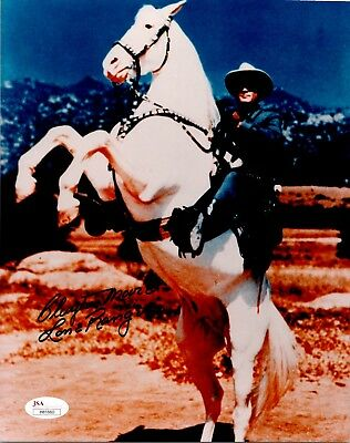 "Clayton Moore ""Lone Ranger"" Actor Autographed 8x10 Photo JSA"