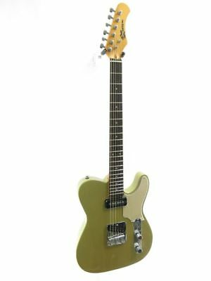 Effin Guitars OldSmelly/YW Vintage Tele Yellow Finish Deluxe Electric Guitar