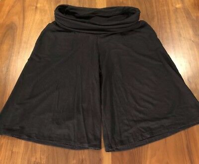 Old Navy Maternity Knit Culottes Loose Shorts Skort Black Size Small S