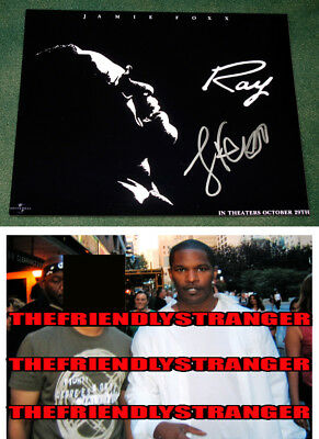 "JAMIE FOXX  signed Autographed ""RAY"" 8X10 PHOTO - PROOF - OSCAR Ray Charles COA"