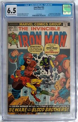 Iron Man #55 CGC 6.5 1st appearance THANOS and First DRAX 1973 Marvel Cents