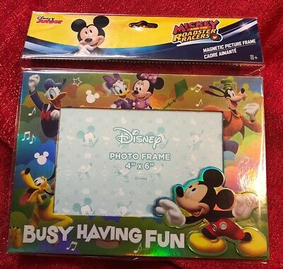 Disney Mickey Mouse & Friends Photo Frame Table Top Or Magnetic- Holds 4x6 Photo