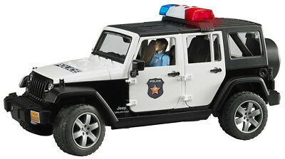 Bruder Toys Jeep Wrangler Unlimited Rubicon Police vehicle with policeman 02526