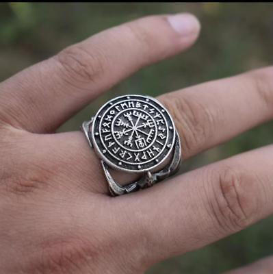 RING OF THE EAGLE Vikings Compass Magic Stave Nordic Amulet Adjustable