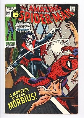 Amazing Spider-Man #101 Vol 1 Very Nice Higher Grade 1st Appearance of Morbius