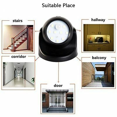 360° Battery Operated Indoor Outdoor Garden Motion Sensor Security LED Light New