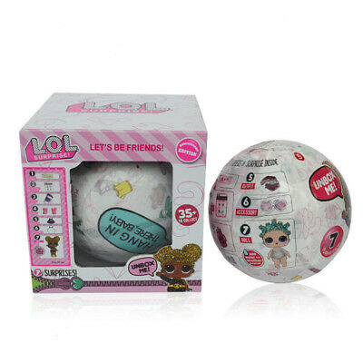 NEW 1/4/8Pcs LOL SURPRISE Ball Let's Be friends Confetti Pop Big Sister Doll Toy
