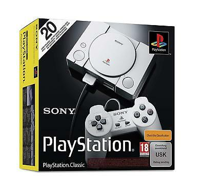Playstation Classic Console ( Mini- ) Comprenant 20 Jeux Neuf + Emballage