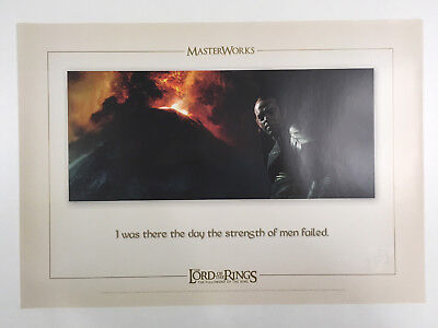 """Lithografie """"I was ther the day the strengh of men"""" Herr der Ringe, Tolkien RAR"""