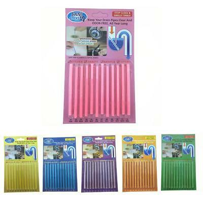 12PCS Cleaning Sticks Sewer Drain Cleaner Kitchen Toilet Sewage Cleaning Tool