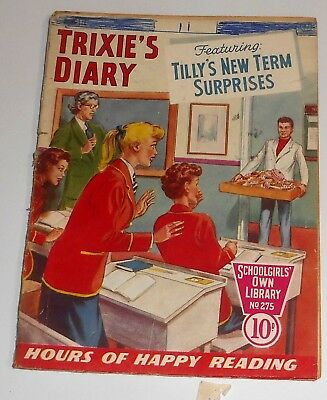 #275 Schoolgirl's Own Library Comics ~ TRIXIE'S DIARY ~ 1957