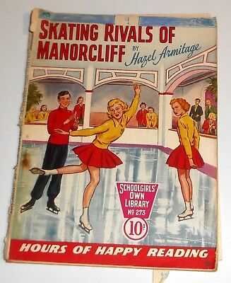 #273 Schoolgirl's Own Library Comics ~ SKATING RIVALS OF MANORCLIFF ~ 1957