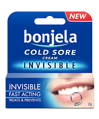 Bonjela Cold Sore Cream Invisible Fast Acting Treats & Prevents 2g