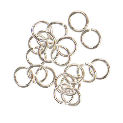20x 925 Sterling Silver Strong Jump Rings Split Rings Jewelry Connectors 4mm