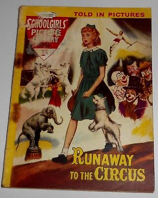 #95 Schoolgirl's Picture Library Comics ~ RUNAWAY TO THE CIRCUS ~ 1960