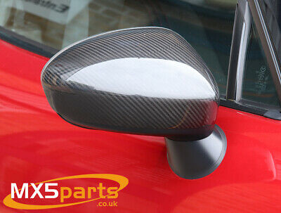 Fiat 124 Abarth Spider Carbon Fibre Door Wing Mirror Covers 2016>