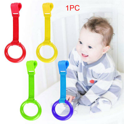 Baby Bed Foldable Pull Ring Hook Portable Pendants Toys Crib Travel Stand Up