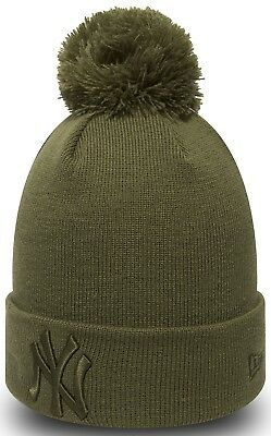 New Era MLB Bobble New York Yankees Essential Women's One Size Beanie Fitted Hat