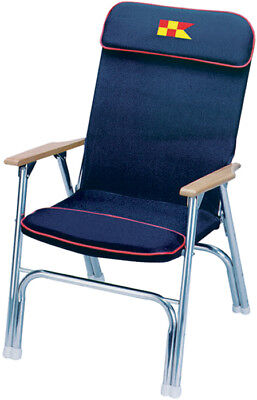 Garelick 3502962 Padded Deck Chair Navy W/red