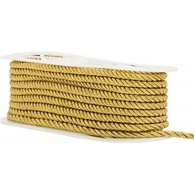 "Simplicity Large Metallic Twisted Cord 1/4""x18yd-gold"
