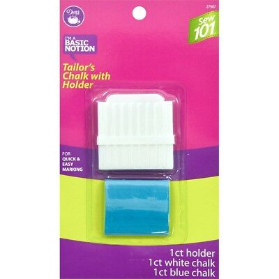 Dritz Sew 101 Tailor's Chalk Pencil W/holder-white & Blue
