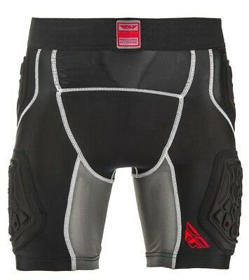 Fly Racing Barricade Mens MX Offroad Compression Shorts Black/Gray