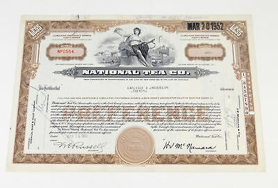 Dwight Deere Wiman Personally Owned 1952 Stock Certificate Broadway Producer