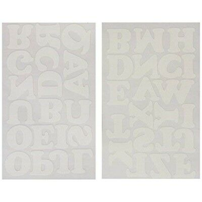 """Dritz Iron-on Letters Soft Flock - 1.5"""" Cooper-white"""