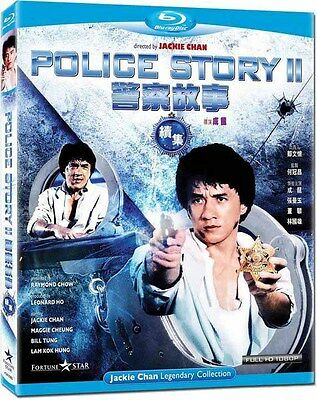 """Jackie Chan """"Police Story II 2"""" Maggie Cheung 1988 HK Action Classic Blu-Ray"""