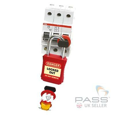 LOTO Miniature Circuit Breaker Lockout w/ Outer Wide Pins - Pin Out