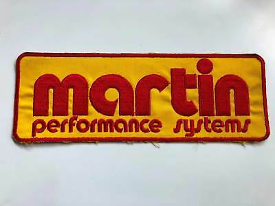 Vintage Motorcycle Martin Performance System Aufnäher / Patches 1987er
