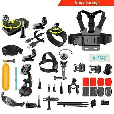 GoPro HERO7 Silver Camera + 64GB Card + Monopod + Case + Head & Chest Strap