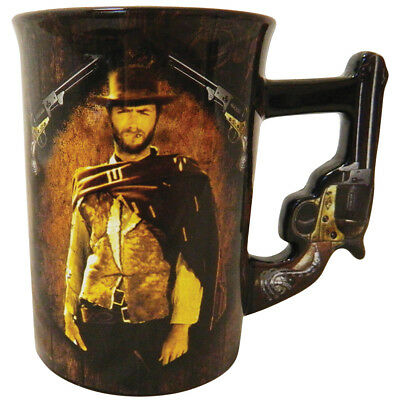 NEW Clint Eastwood Good Bad Ugly Pistol Mug 16oz w/ Gritty Artwork From The Film