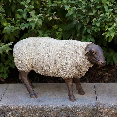"""New Country Primitive Farmhouse Large Standing Lamb Sheep Figurine Statue 16"""""""
