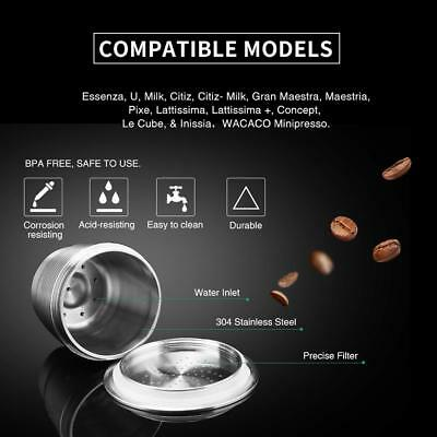 304 Stainless Steel Refillable Reusable Coffee Capsule Pod For Nespresso Machine