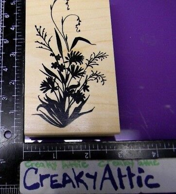 Wildflowers Plant Stem Flowers Rubber Stamp Great Impressions H184