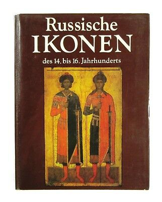 BOOK Medieval Russian Icons 14-16th century antique painting Rublev Pskov Moscow