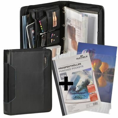 Conference Folder with Handle A4 Black Tablet Compartment +10 Prospect Covers