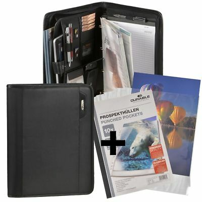 Conference Folder A4 Black with Tablet Compartment +10 Prospect Covers