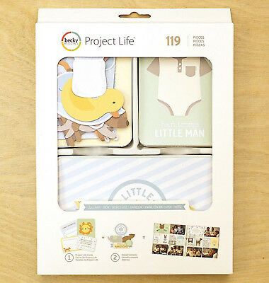 Project Life LULLABY BOY VALUE KIT (119pc) 380808 BABY BLUE GREEN YELLOW