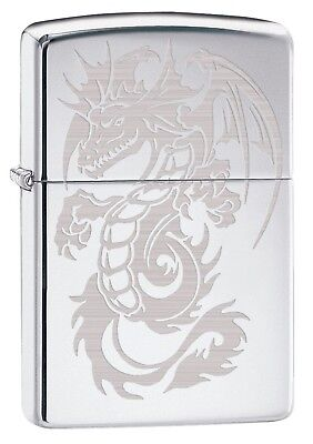 Zippo Lighter: Dragon with Wings, Engraved - High Polish Chrome 79518