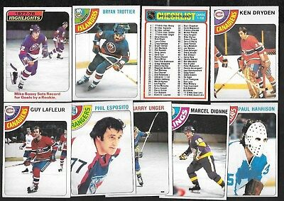 1978-79 Opc O Pee Chee Nhl Hockey Card 1-132 See List