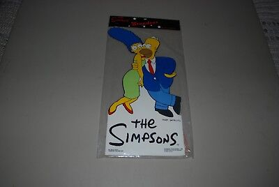 "Vintage 1990 The Simpsons, Marge & Homer 17"" Cardboard Standee, New Old Stock"