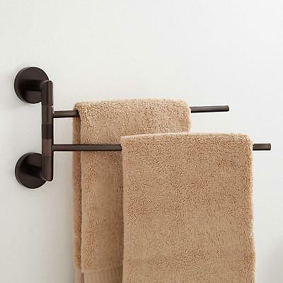 Signature Hardware Colvin Double Swing Arm Towel Bar in Oil Rubbed Bronze