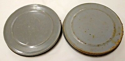2 x Vintage 16mm Cine Film Reel Cans - Cannister Movie Old Retro Movies Cinema