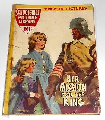#18 Schoolgirl's Picture Library Comics ~ HER MISSION FOR THE KING ~ 1958