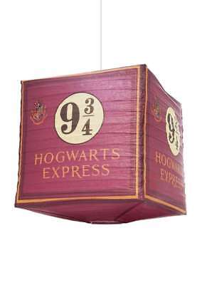 Official Harry Potter Hogwarts Express Paper Cube Hanging Light Shade Lamp